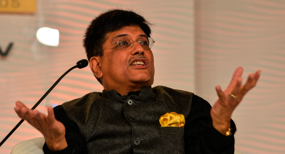 Indický ministr energetiky Piyush Goyal