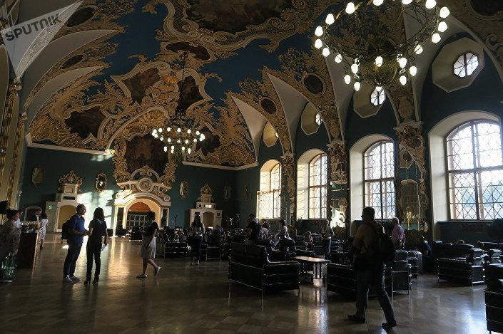 Čekárna Kazaňského nádraží v Moskvě