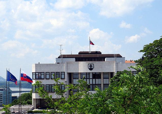 Budova slovenského parlamentu v Bratislavě
