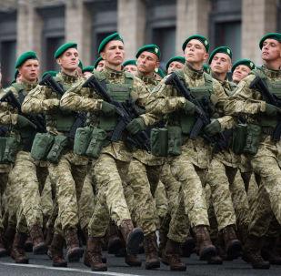 Přehlídka ke Dni nezávislosti Ukrajiny.