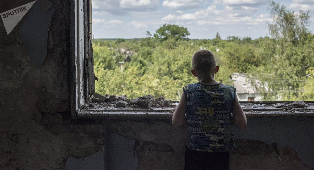 Škola, která se stala útočištěm pro obyvatele Horlovky