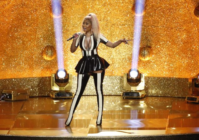 Zpěvačka Nicki Minaj na udělování cen MTV Video Music Awards v roce 2017