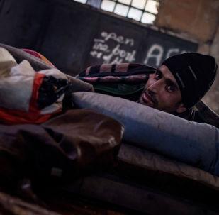 Útočiště migrantů v Bělehradě