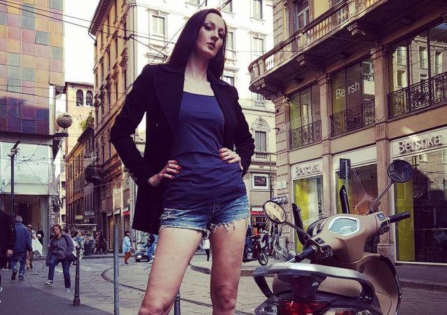 Modelka a bývalá basketbalistka Jekatěrina Lisinová