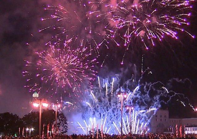 Den města v Moskvě: slavnostní ohňostroj na počest 870. výročí ruské metropole