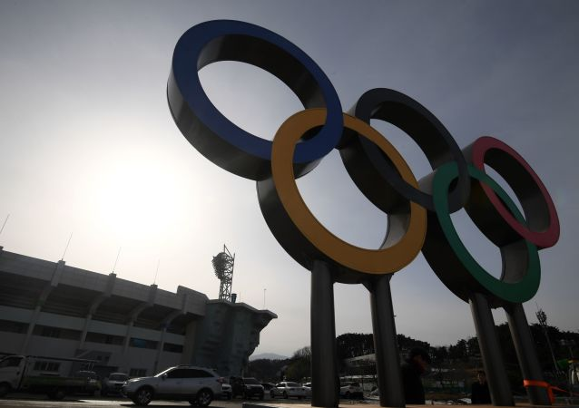 Olympijské kruhy v Olympijském parku