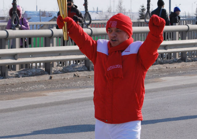 Ruský sportovec Vladimir Balynec