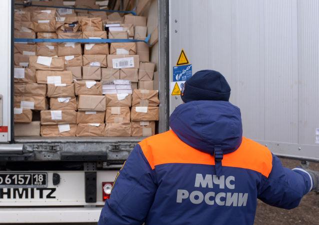 Ruská humanitární pomoc pro Donbas. Ilustrační foto