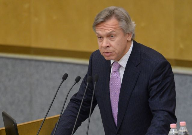 Předseda komise Rady federace pro informační politiku Alexej Puškov