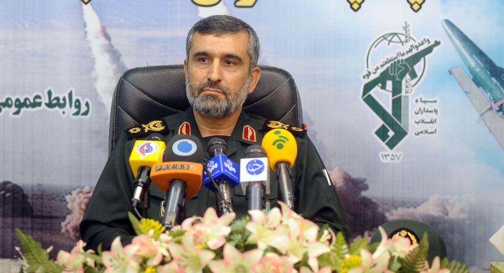 Velitel vojensko-kosmických sil Islámského revolučního gardového sboru (IRGC) Amir Ali Hajizadeh