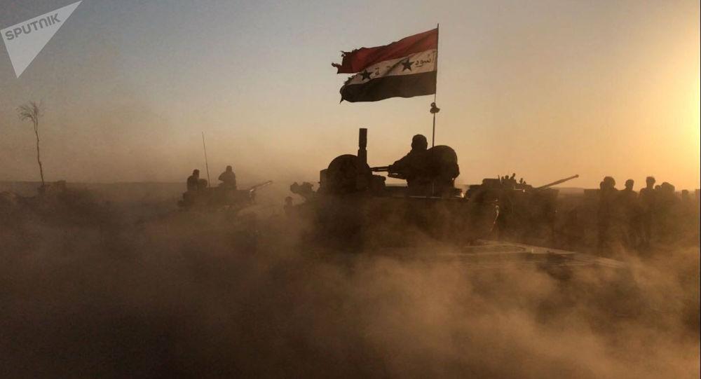 Syrské tanky v Dajr az-Zauru