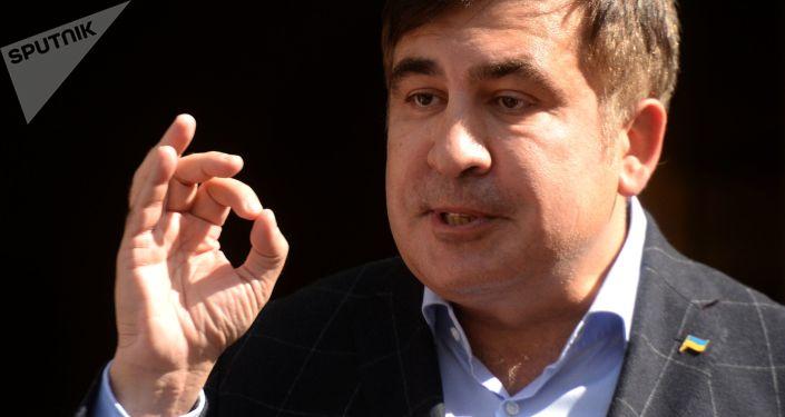 Bývalý gruzínský prezident a bývalý gubernátor Oděské oblasti Michail Saakašvili