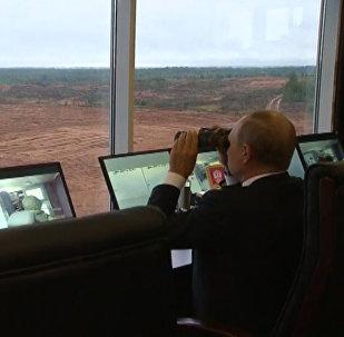 Putin na cvičení Západ 2017