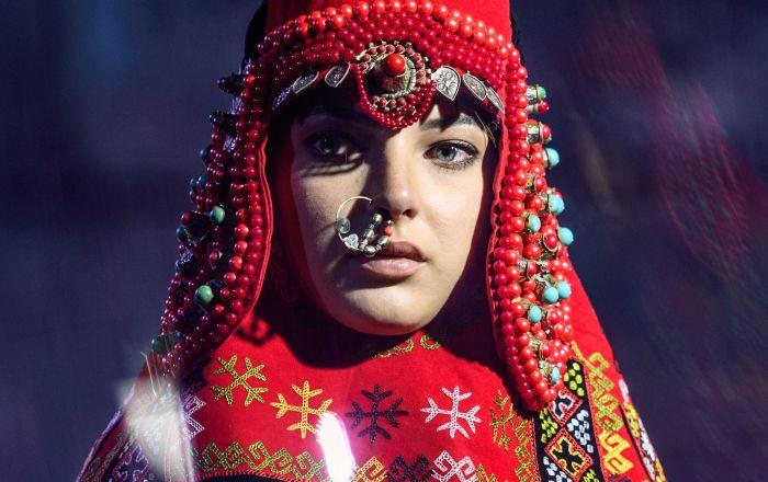 Etno styl na módní přehlídce v Moskvě