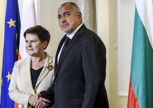 Setkání polské premiérky Beaty Szydłové a bulharského předsedy vlády Bojko Borisova