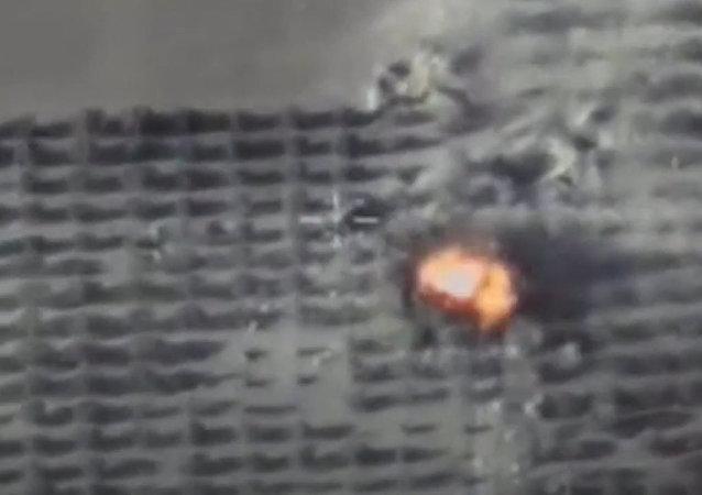 Útoky VKS RF na objekty teroristů v Idlibu