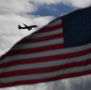 Letadlo v nebi nad USA