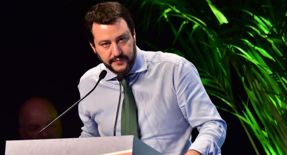 Vůdce strany Liga Severu Matteo Salvini