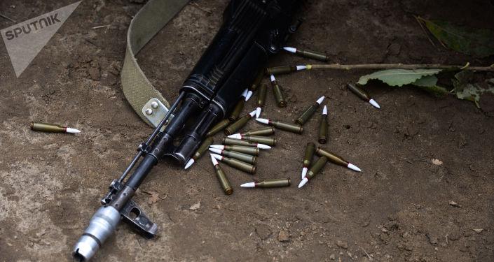 Kulomet a náboje, ilustrační foto