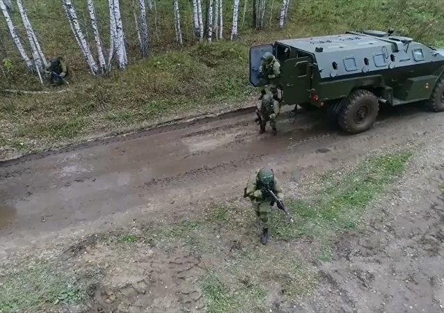 Cvičení raketových vojsk. Video