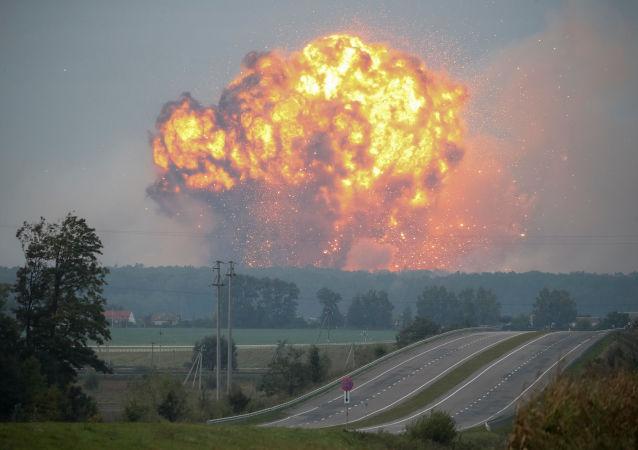 Požár a exploze ve skladech munice u města Kalinovka ve Vinnycké oblasti, Ukrajina