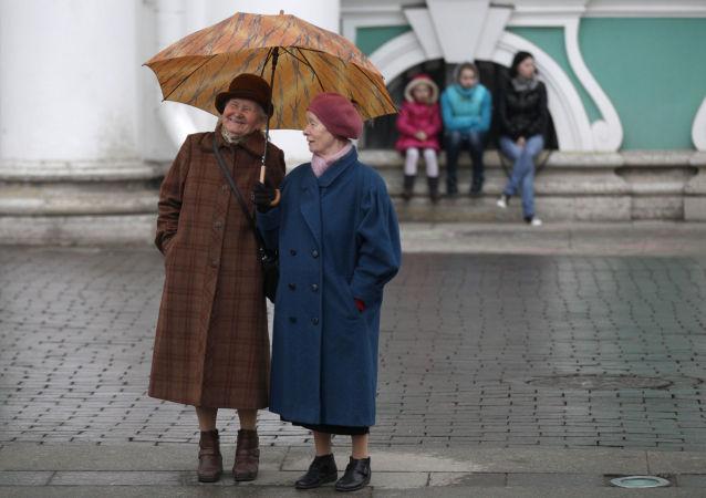 Důchodkyně v Petrohradu