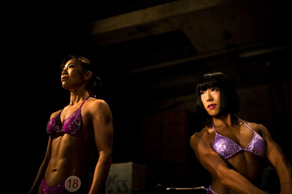 Soutěž v bodybuildingu v Japonsku