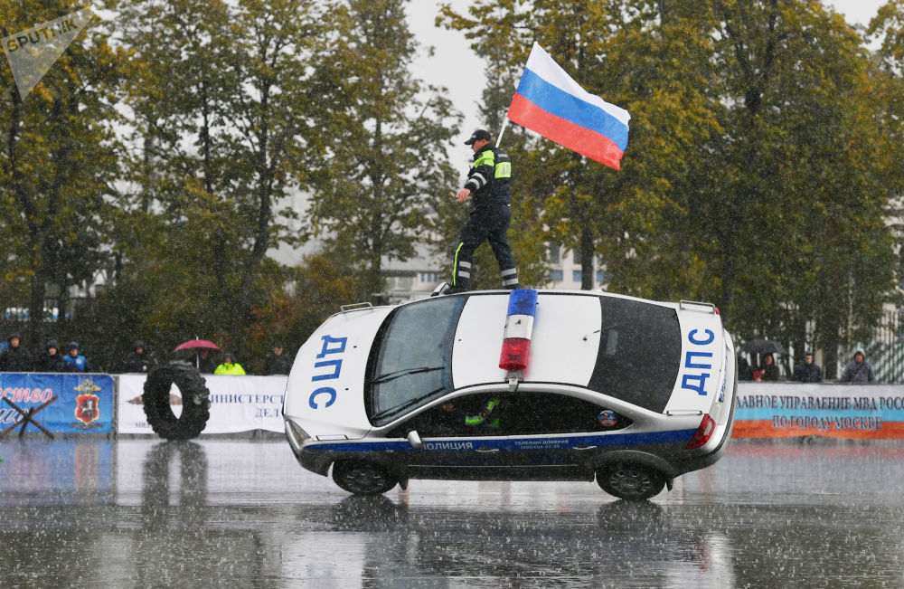 Sportovní slavnost moskevské policie