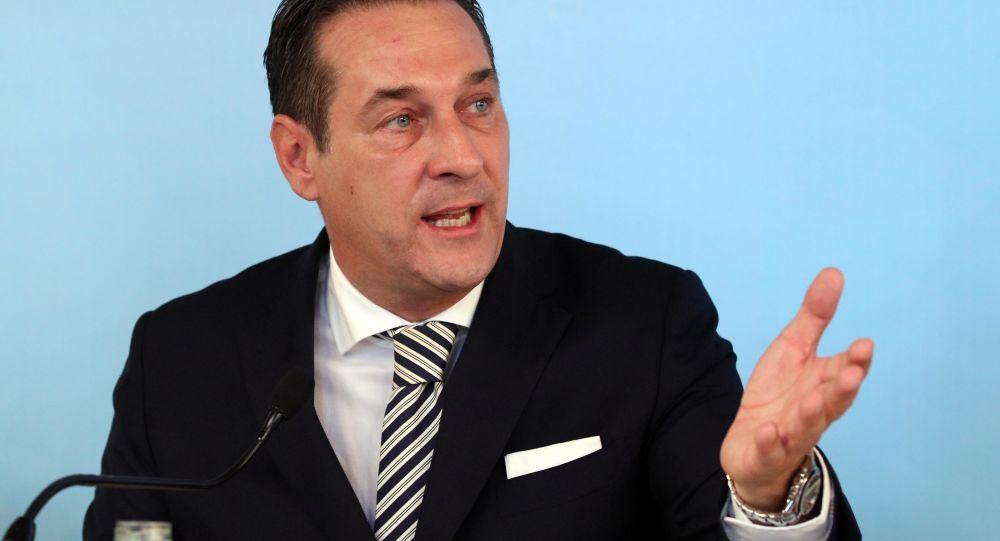 Lídr rakouské pravicové nacionalistické Svobodné strany Ruska (FPÖ) Heinz-Christian Strache