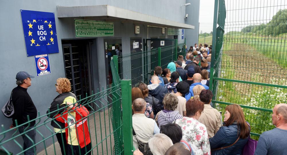 Ukrajinci na polské hranici