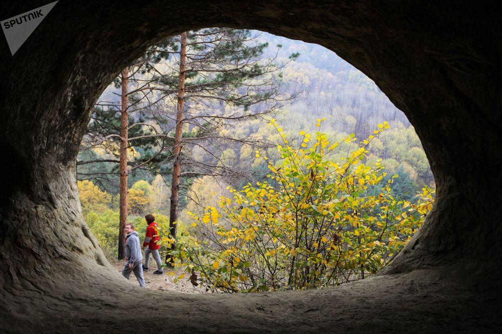 Návštěvníci národního parku Kislovodskij