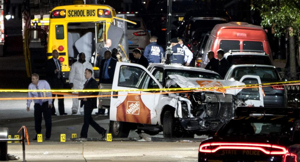 Místo teroristického útoku v New Yorku