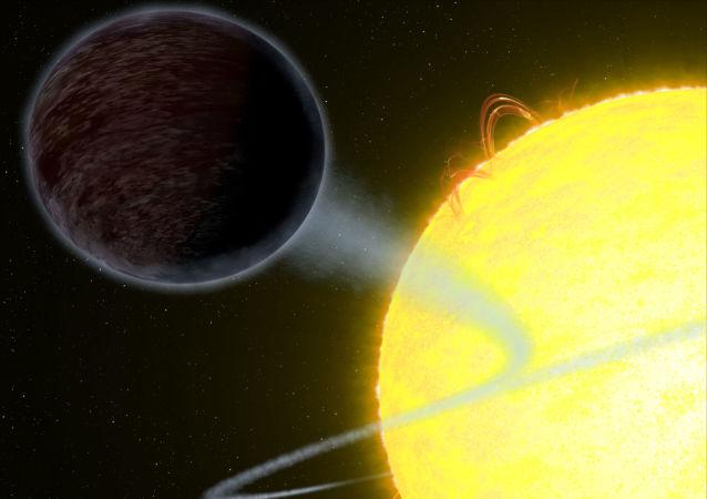 Černý plynový obr exoplaneta WASP-12b