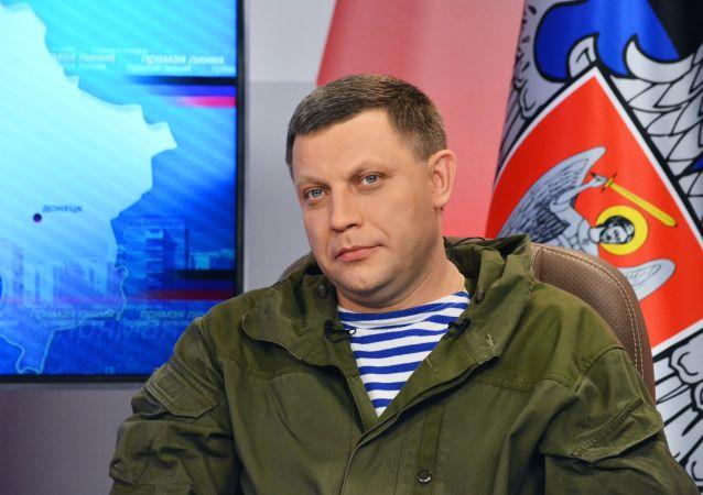 Lídr samozvané Doněcké lidové republiky (DLR) Alexandr Zacharčenko