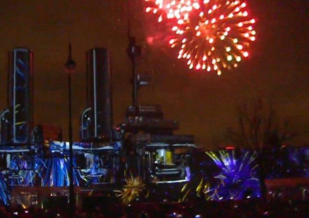 Festival světla probíhá v Petrohradu