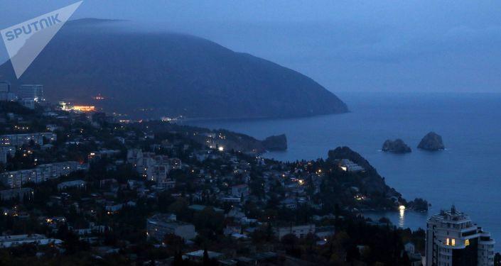 Pohled na Gurzuf na Krymu