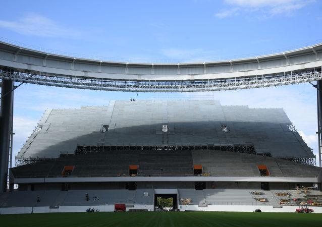 Fotbalový stadion v Jekatěrinburgu