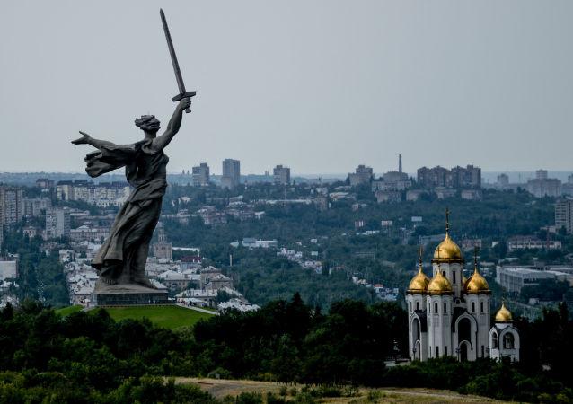 Monument Matka vlast volá ve Volgogradu