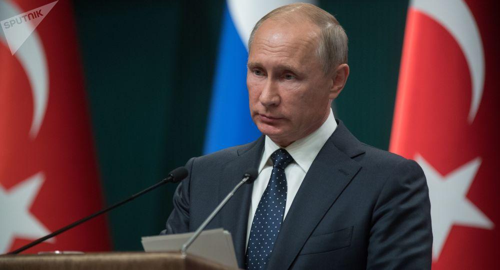 Ruský prezident Vladimir Putin po rusko-tureckých jednáních