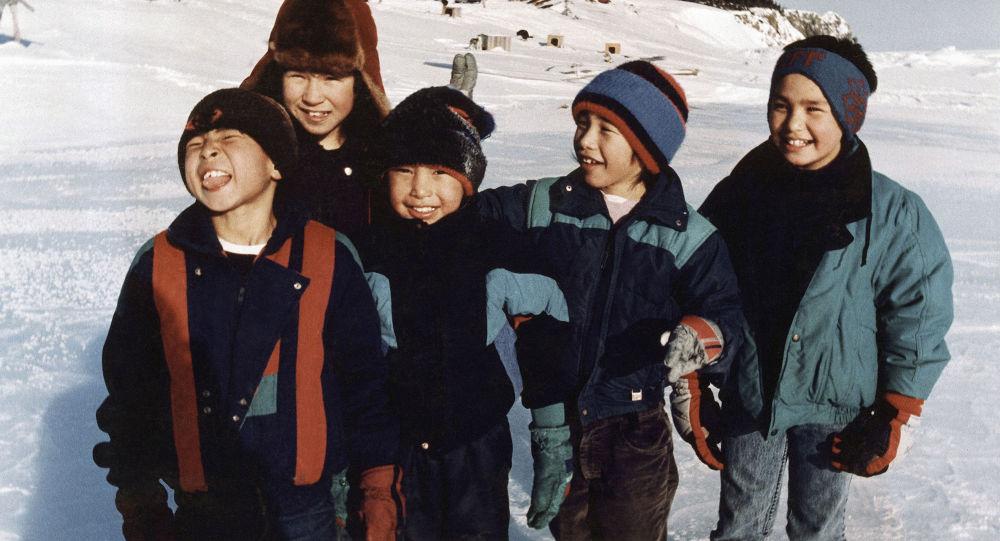 Děti na Aljašce