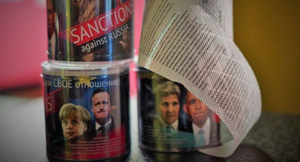 Toaletní papír s textem sankcí