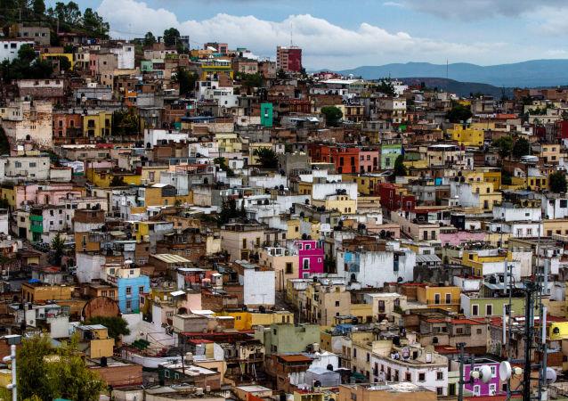 Pohled na mexické město Zacatecas.