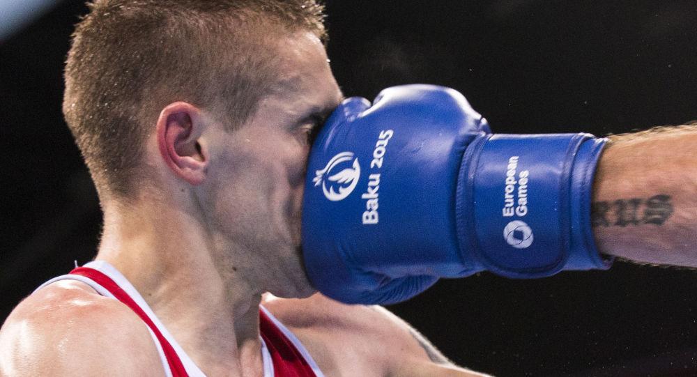 Boxerský zápas na 1. Evropských hrách v Baku (ilustrační foto)