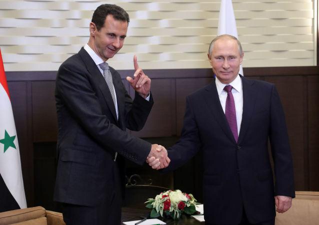 Vladimir Putin se setkal v Soči se svým syrským kolegou Bašárem Asadem