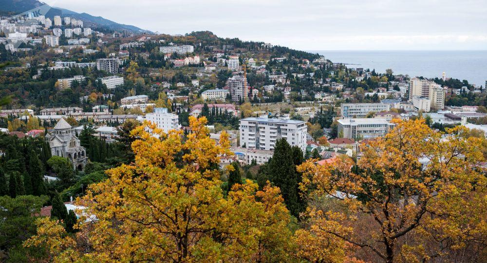 Pohled na Jaltu, Krym