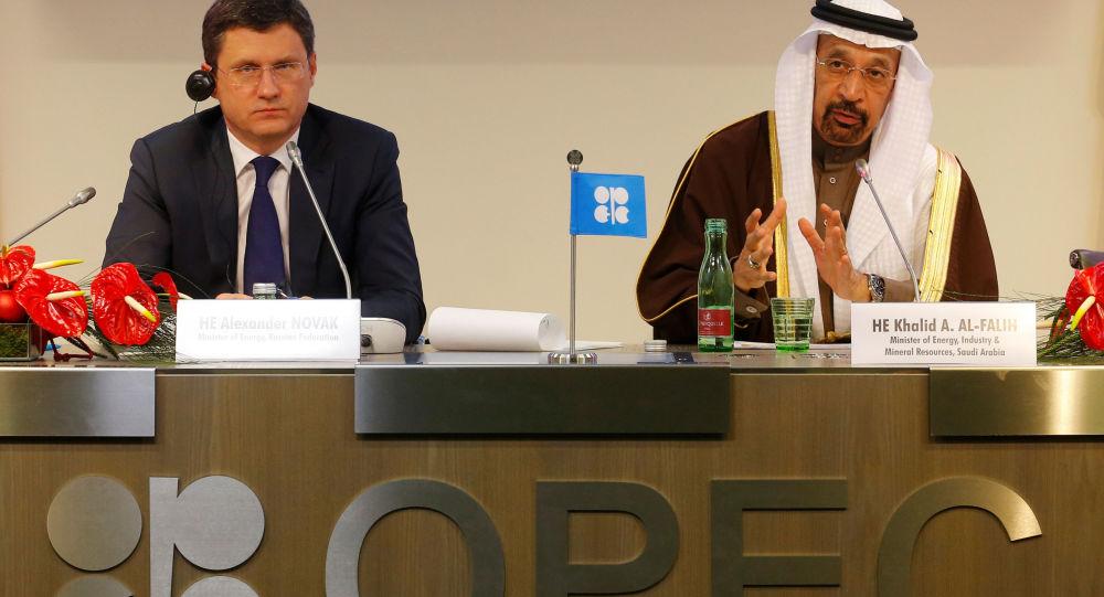 Tisková konference OPEC. Archivní foto