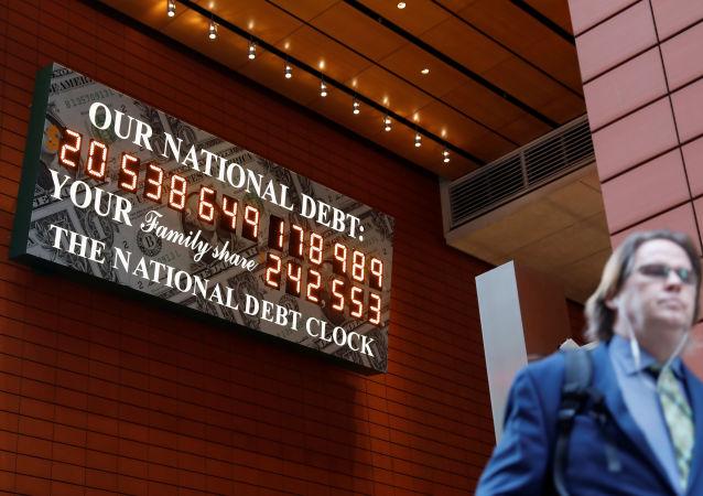 Počítadlo amerického dluhu v New Yorku