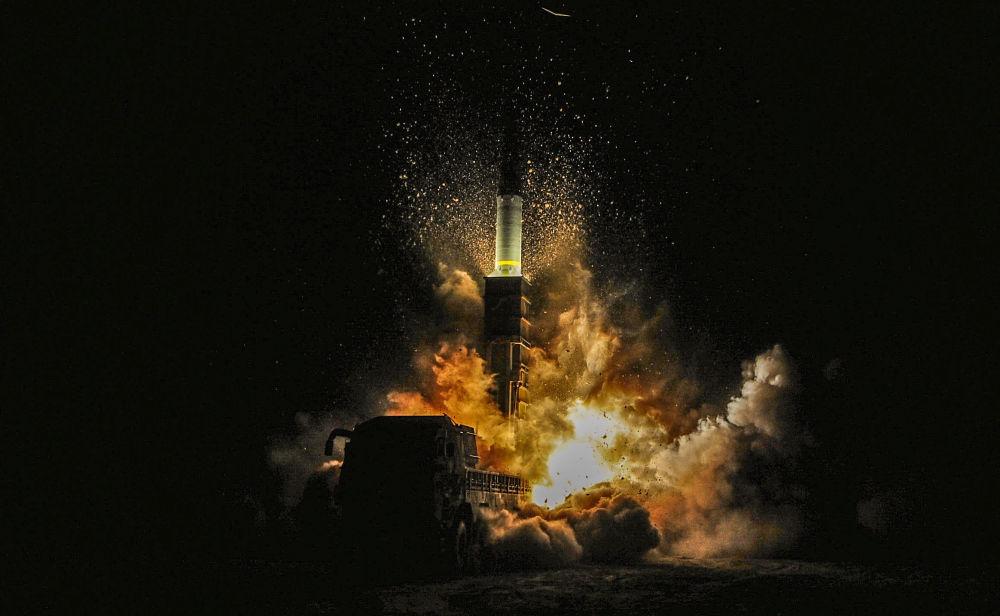 Start jihokorejské rakety Hyunmoo II