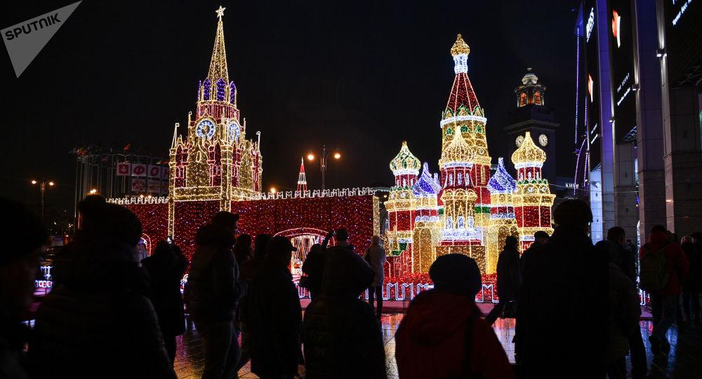 Vánoční ozdoby v Moskvě