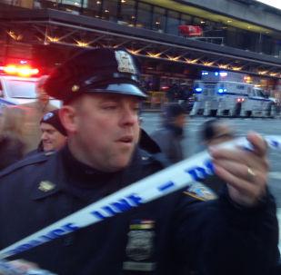 Policie na místě výbuchu v New Yorku